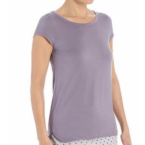 Dámské triko QS5253E - Calvin Klein Barva: modrá, Velikost: M