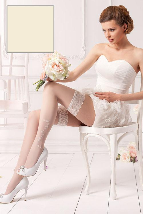 Nadkolenky Wedding Rosalia 04 - Mona Barva: vanilka, Velikost: XS/S