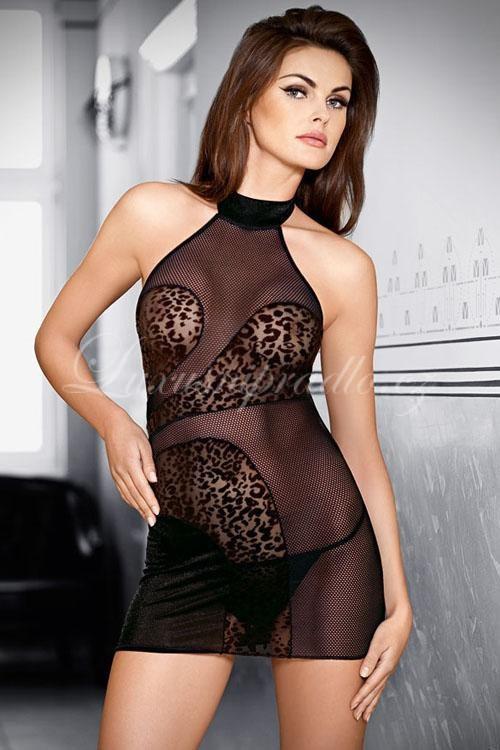 Erotické šaty Tessoro 244 Barva: černá, Velikost: S-M