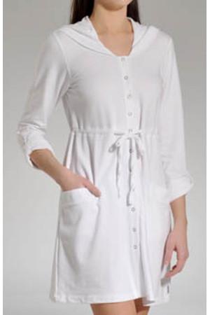 Dámský dlouhý župan YI2913044 - DKNY Barva: bílá, Velikost: XS