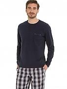 Pánské pyžamo 50201 - Jockey Barva: světle modrá, Velikost: XL