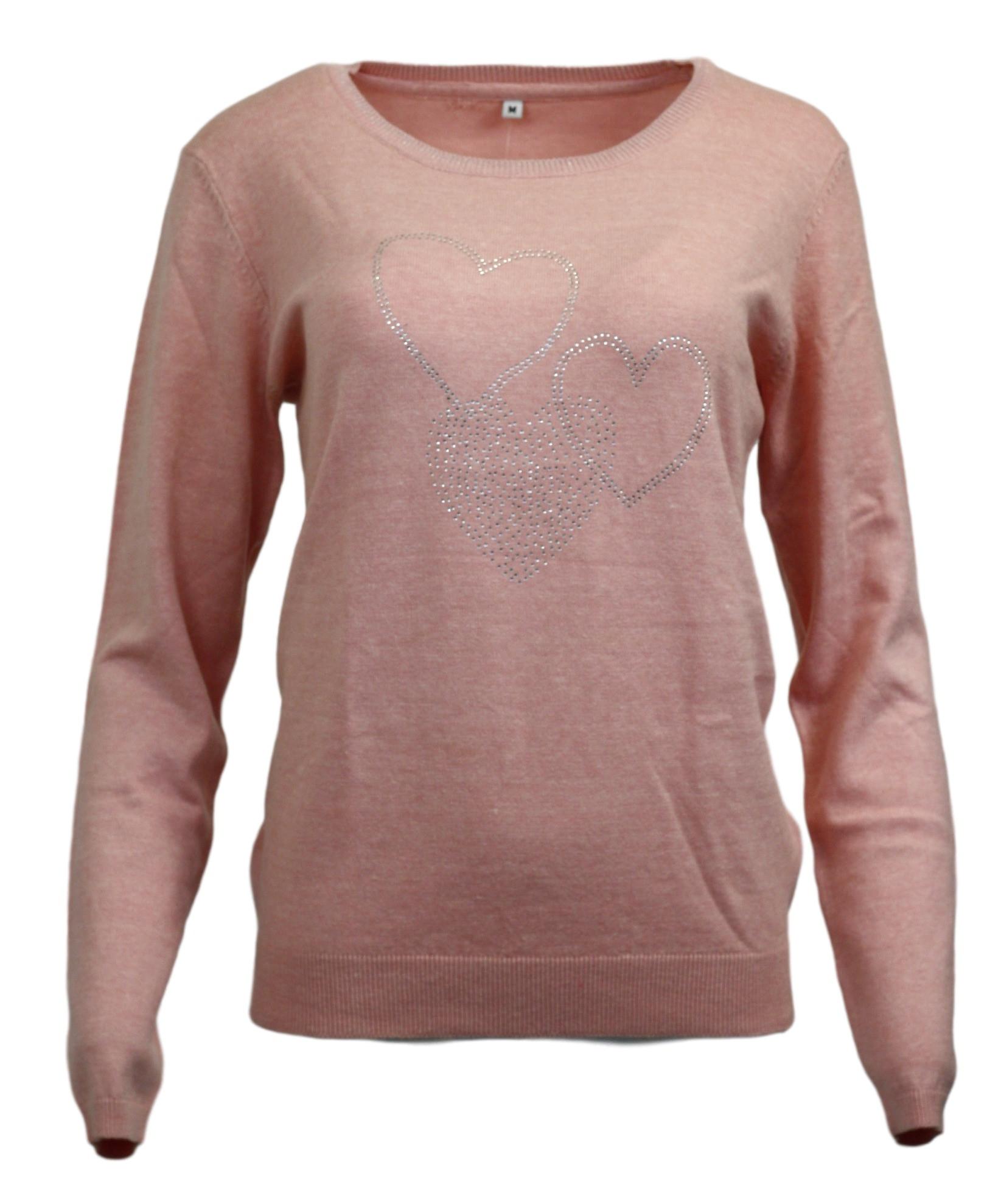 Dámský svetřík - Rhodos - Hegler Barva: růžová, Velikost: L