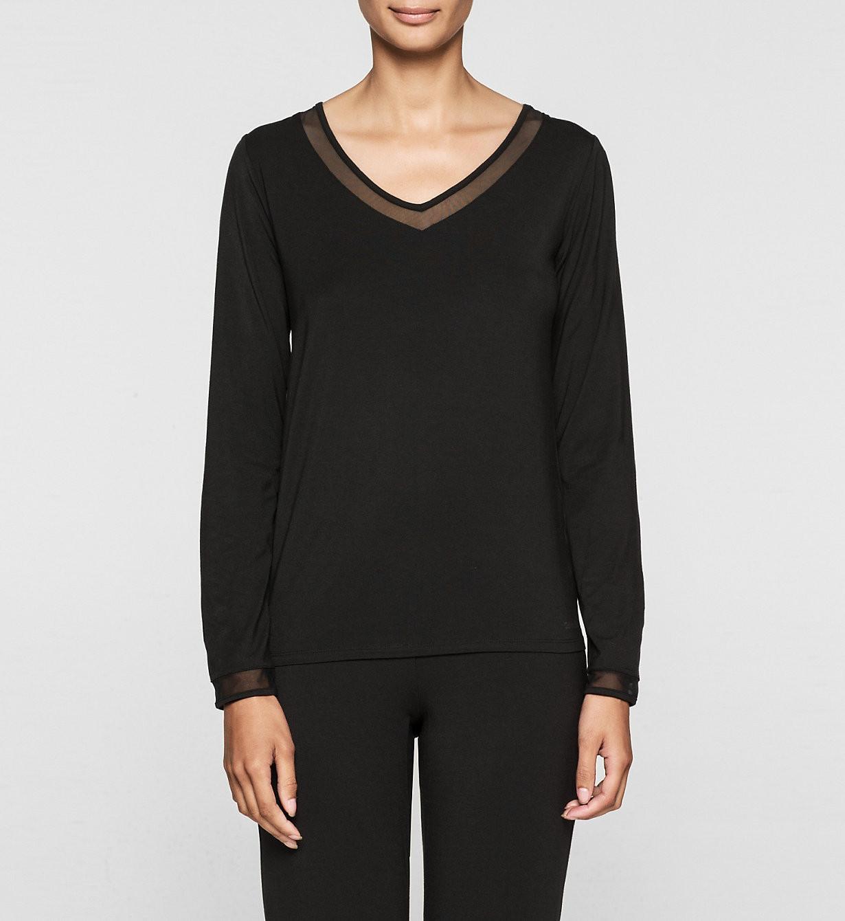 Dámské tričko QS5306E - Calvin Klein fialová L