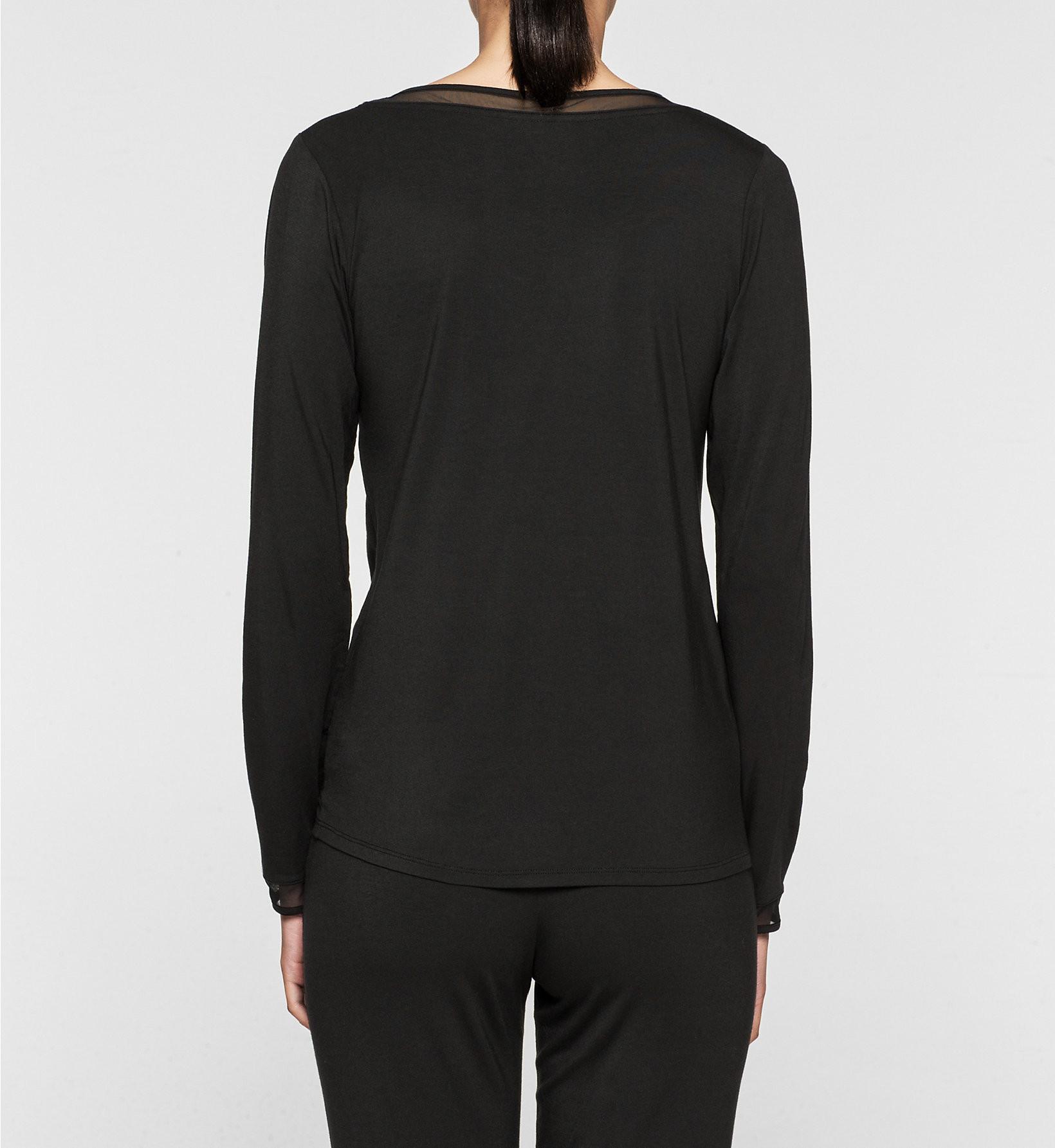 Dámské tričko QS5306E - Calvin Klein Barva: fialová, Velikost: L