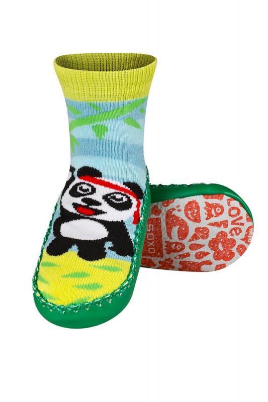 Dětské ponožkové papuče - Soxo Barva: koník, Velikost: 19-21
