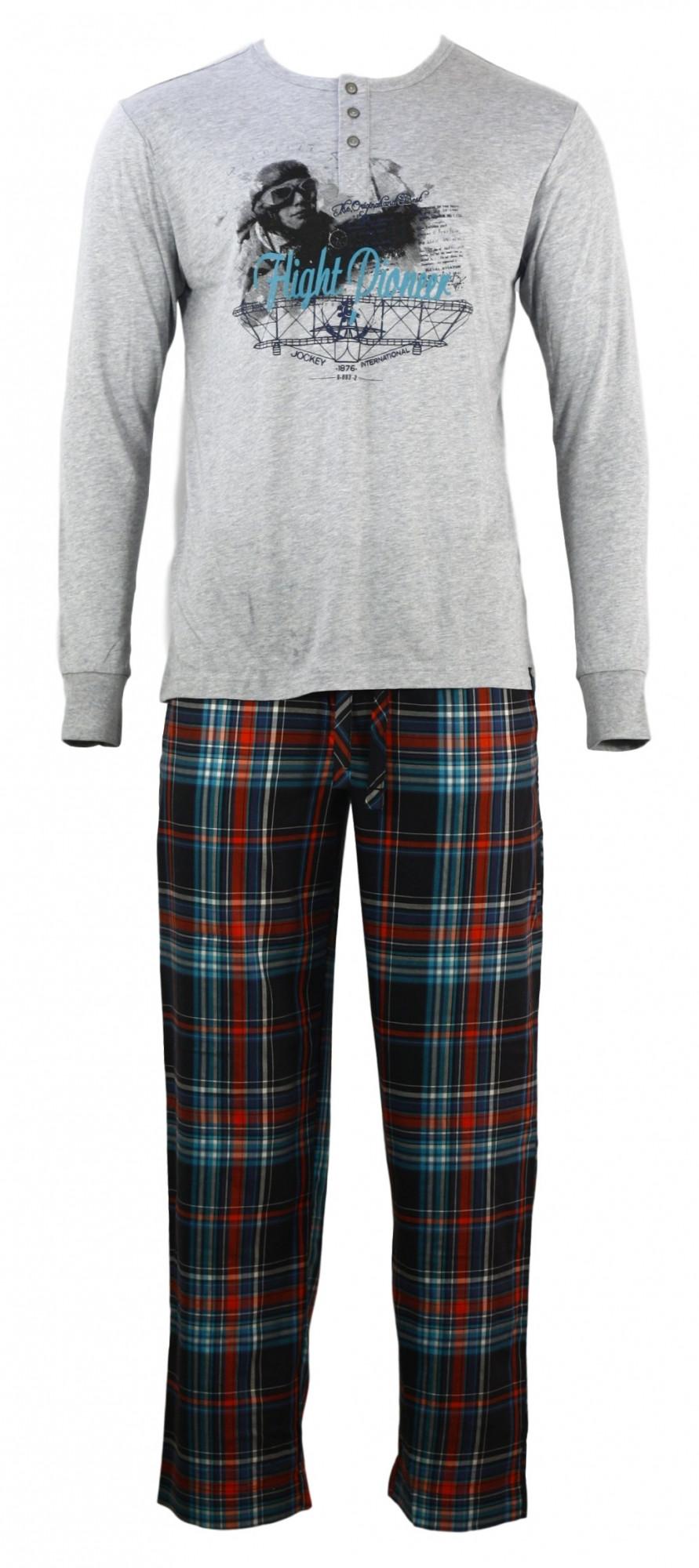 Pánské pyžamo 52227 - Jockey Barva: kostka, Velikost: L