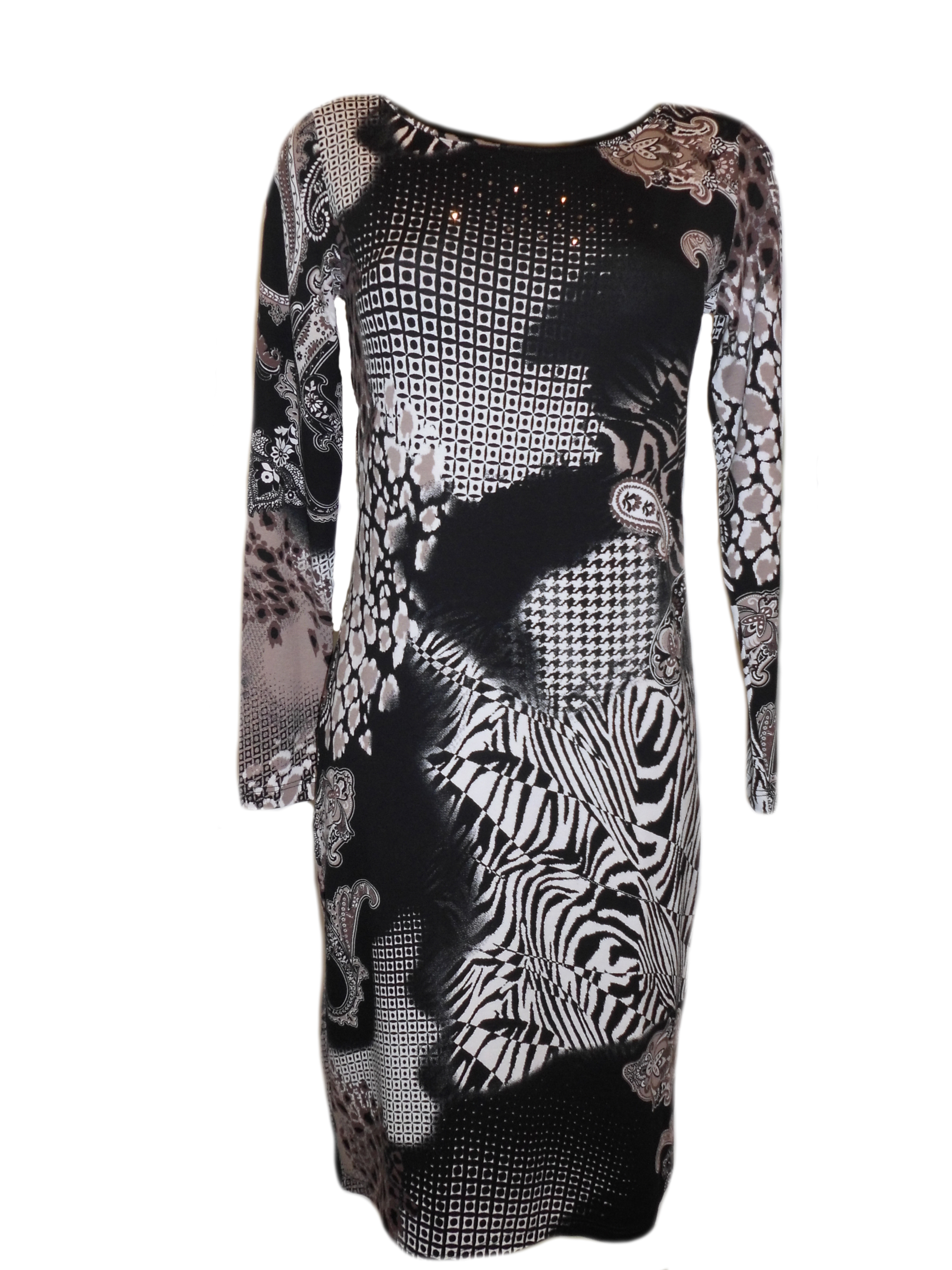 Šaty Marle Vypan DR SW - Favab Barva: černo-hnědá, Velikost: M