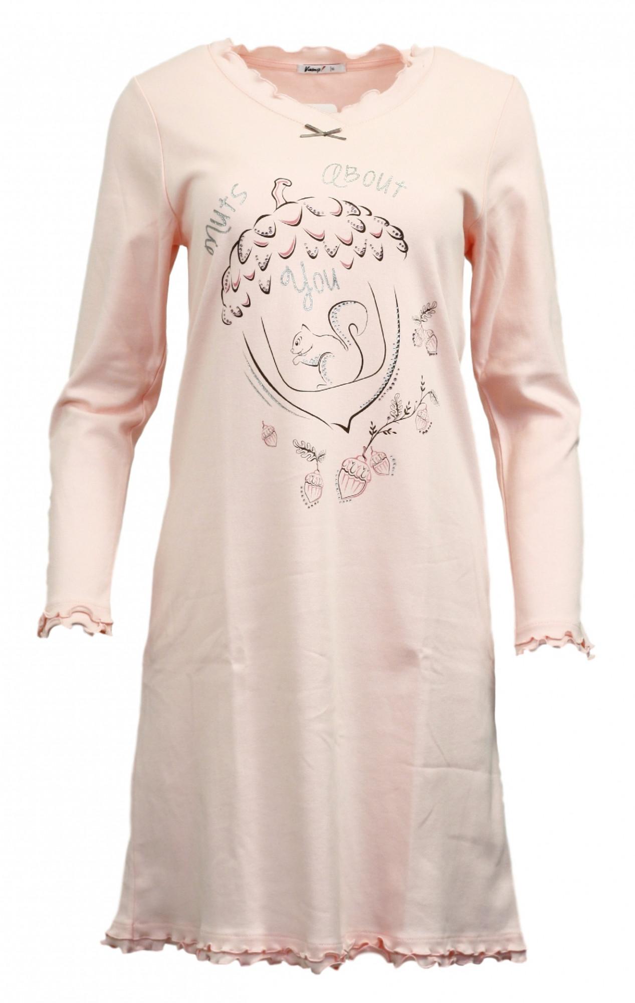 Dámská noční košile 10-5141 - Vamp Barva: růžová, Velikost: S