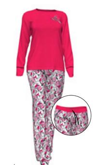 Dámské pyžamo 10-5272 - Vamp Barva: červená, Velikost: L