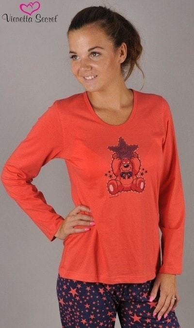 Dámské pyžamo 0847 Vienetta - Gemini Barva: modrá - červená, Velikost: XL