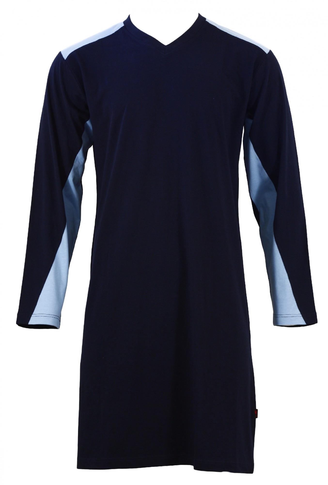 Pánská noční košile Limoa DR - Favab Barva: modrá, Velikost: L