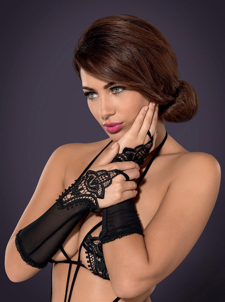 Rukavičky Luiza mittens - Obsessive Barva: černá, Velikost: uni