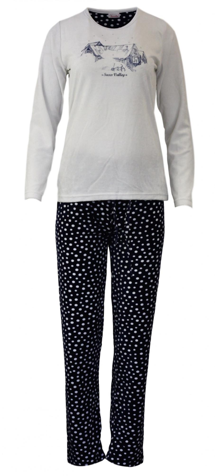 Dámské pyžamo 4419 - Vienetta Barva: bílá, Velikost: M