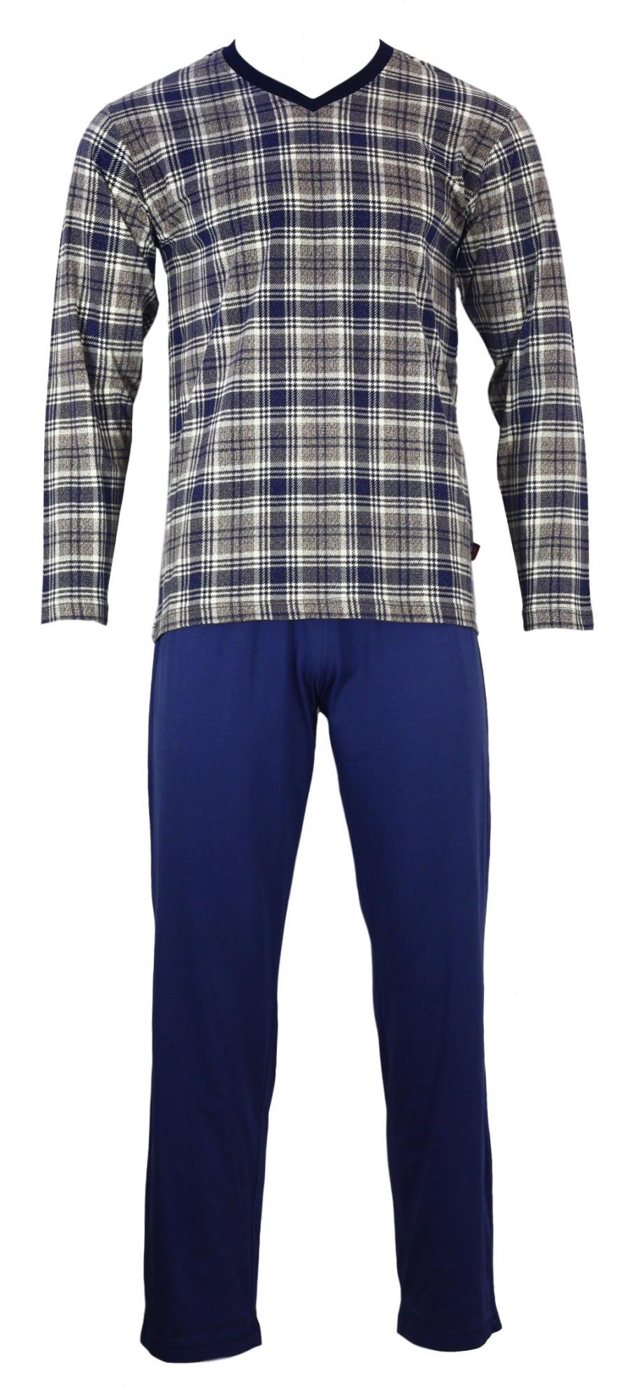 Pánské pyžamo Karono V DR - Favab Barva: modrá/bílá, Velikost: L