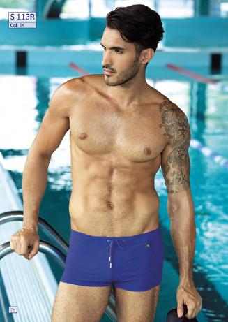 Pánské plavky S113R - Self Barva: tyrkys, Velikost: 2XL