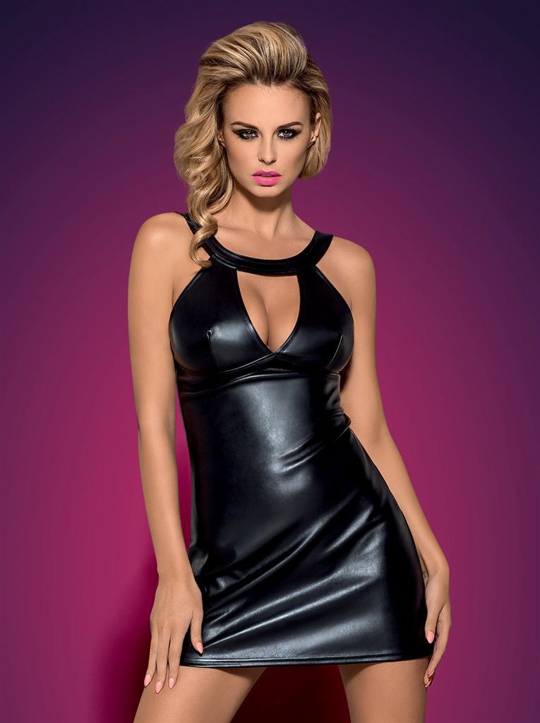 Šaty Darksy dress - Obsessive Barva: černá, Velikost: S/M