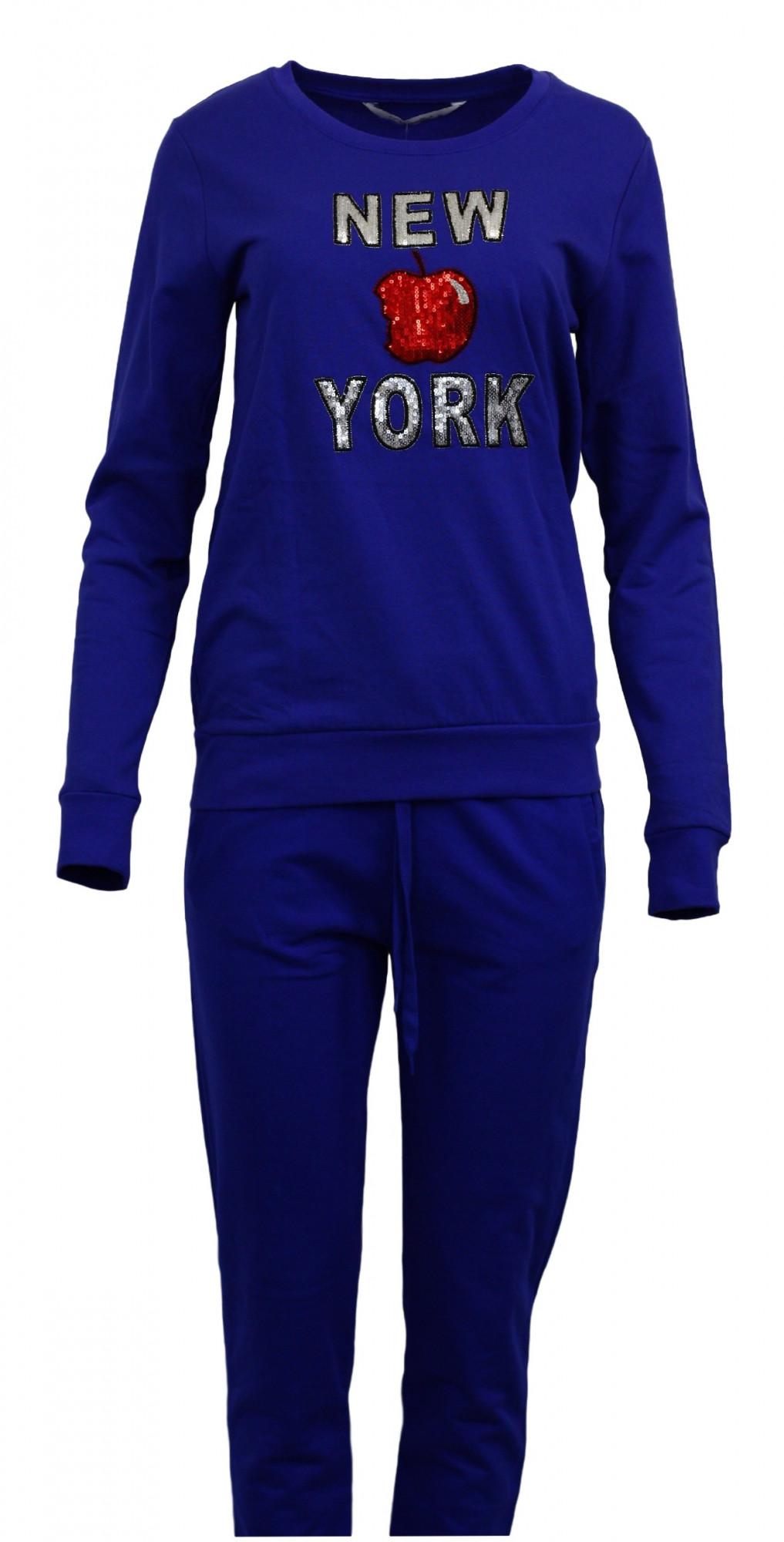 Dámská souprava - New York, Vienetta Barva: modrá, Velikost: M
