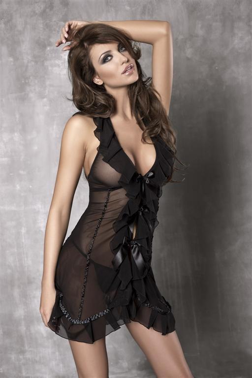 Košilka Anais Seduce me Barva: černá, Velikost: L