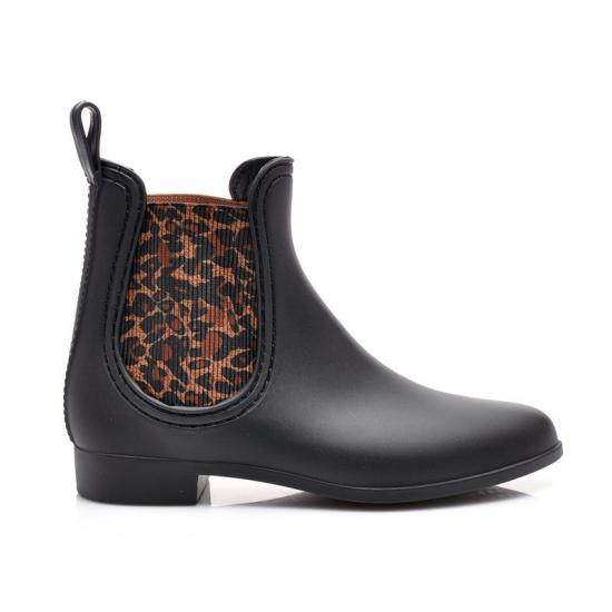 ČERNÉ GUMÁKY V JEZDECKÉM STYLU TL02 leopard - Fashion boty Barva: leopard, Velikost: 39