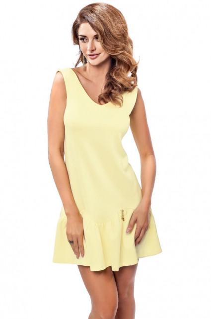 Dámské šaty Enny 190050 Barva: žlutá, Velikost: 38