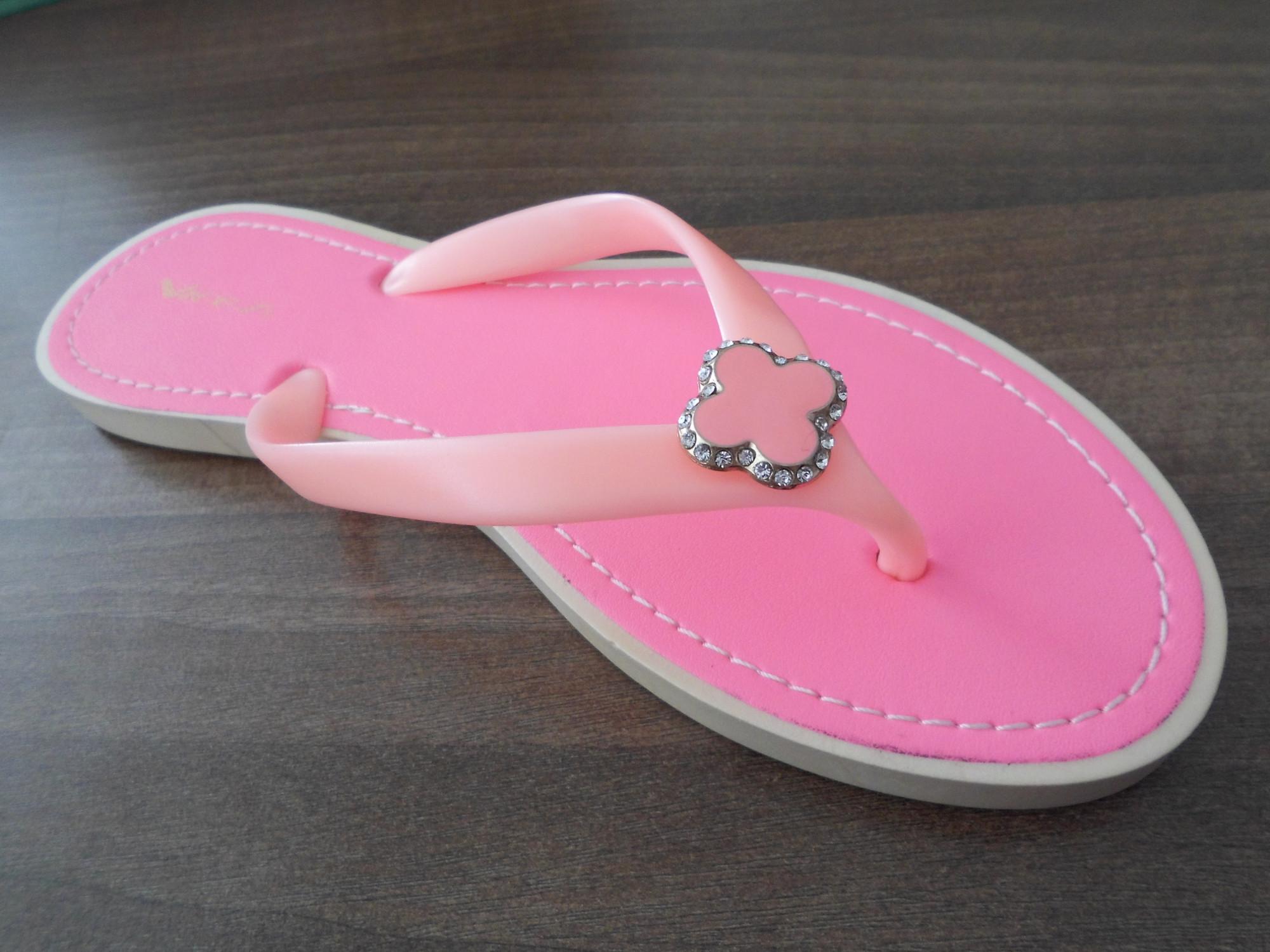 RŮŽOVÉ ŽABKY NA LÉTO PT55-20 - Fashion Boty Barva: růžová, Velikost: 38