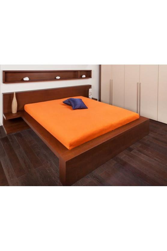 Froté prostěradlo 110x200 Barva: oranžová