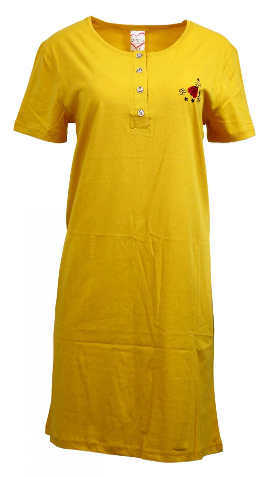 Dámská tunika LAPD21183 - Cocoon žlutá XXL