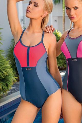 Jednodílné dámské plavky S 13 - Self Barva: tyrkys, Velikost: XL