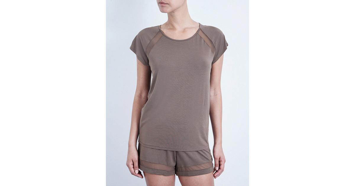 Dámské triko QS5395E - Calvin Klein Barva: hnědá, Velikost: M