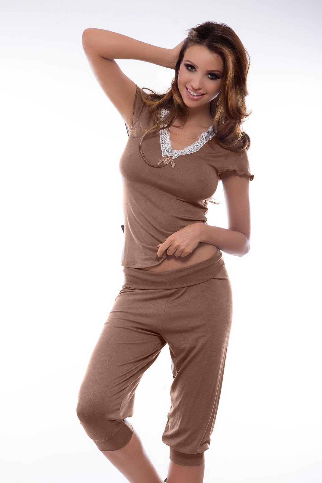 Pyžamo Virginia - Hamana Barva: cappucino, Velikost: M