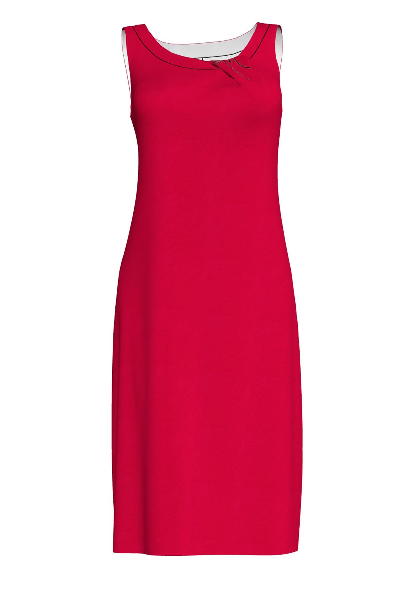 Dámské plážové šaty 6292 - Vamp Barva: červený ibišek, Velikost: L