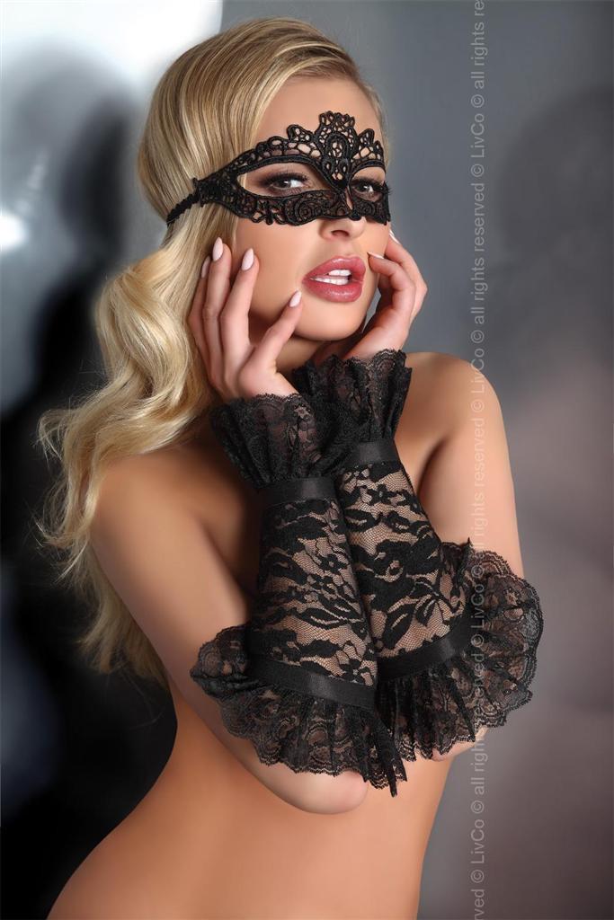 Maska Model 5 - LivCo Corsetti Barva: černá, Velikost: uni