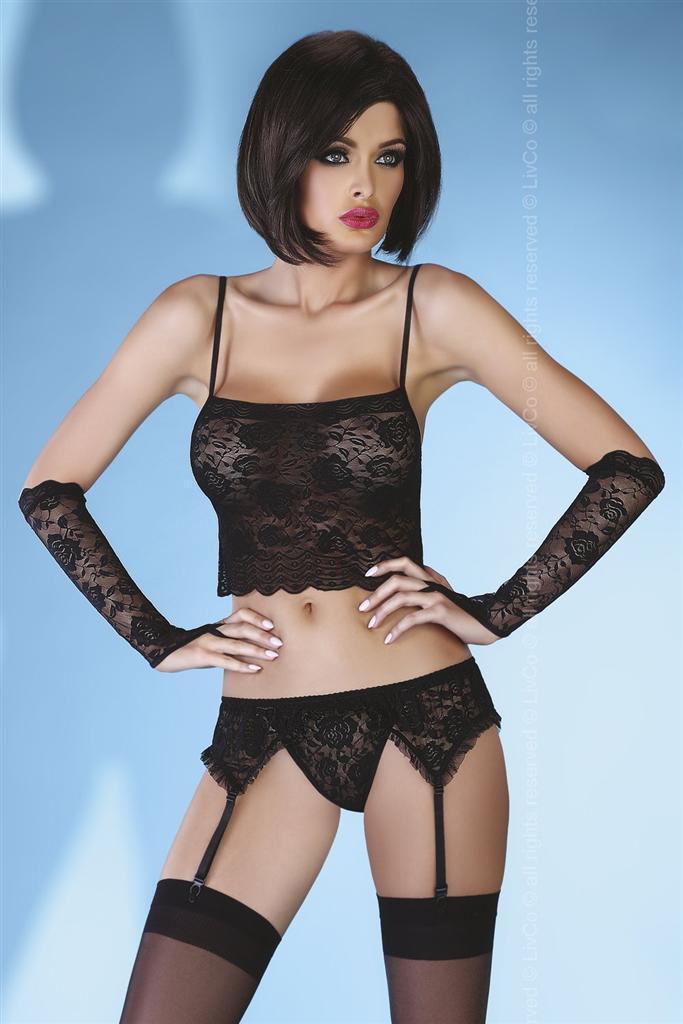 Komplet Modesta - LivCo Corsetti Barva: černá, Velikost: S/M