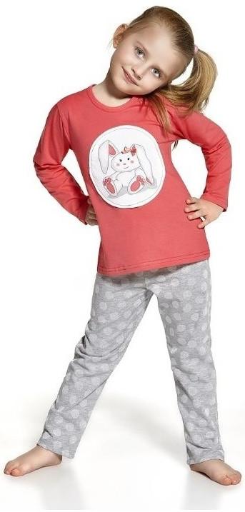 Dětské pyžamo Cornette 811/56 Sweet bunny Barva: červená - šedá, Velikost: 98/104
