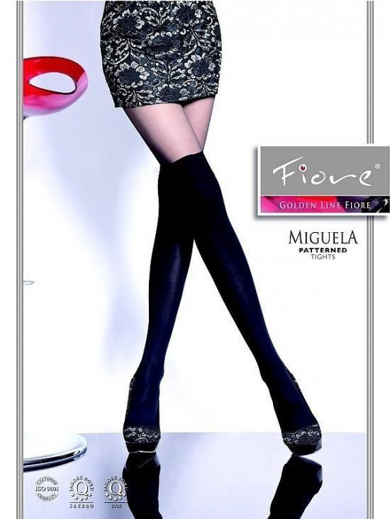 Punčochové kalhoty Miguela G 5273 40 den - Fiore Barva: černá, Velikost: 2