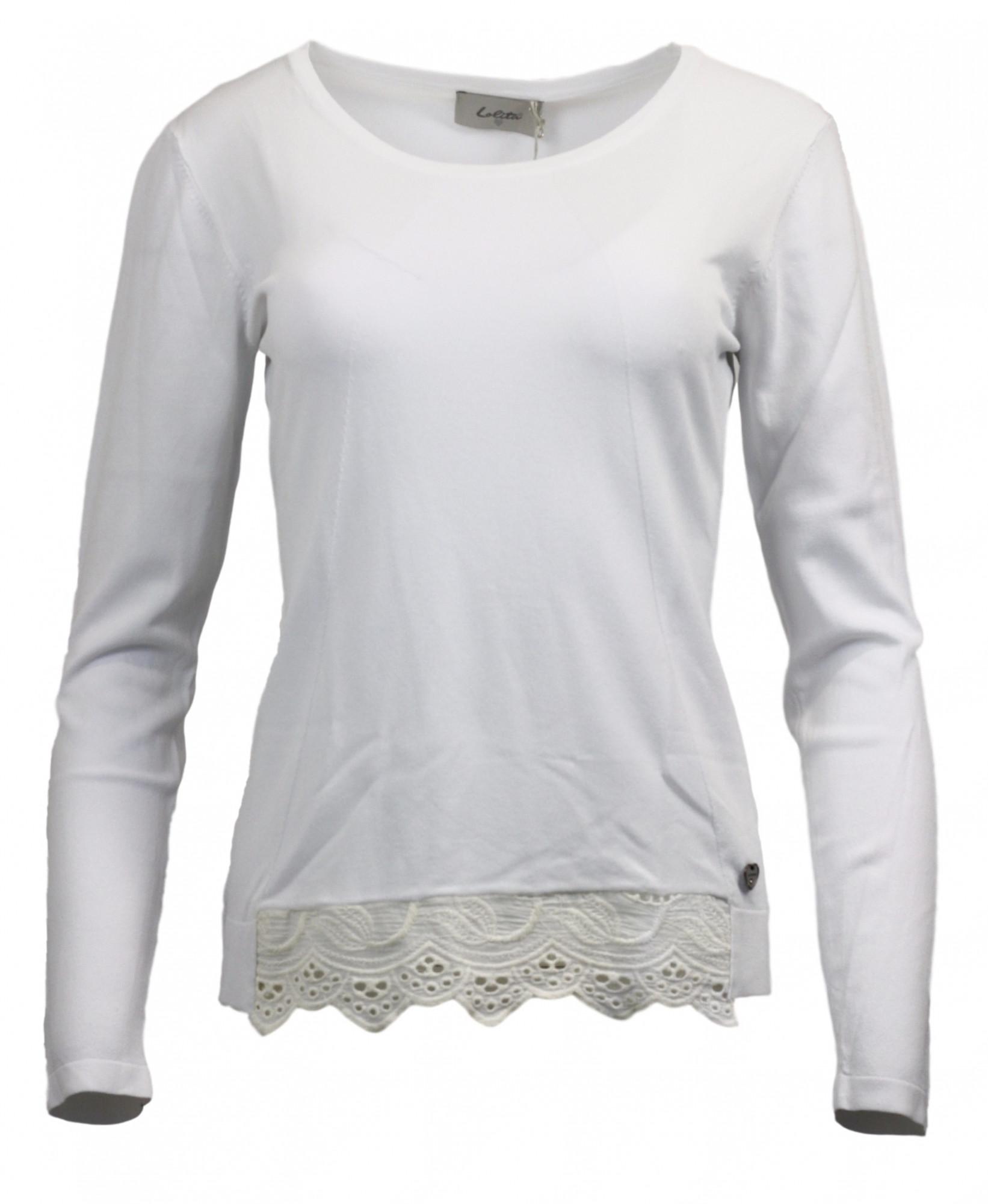 Dámský svetřík Lolita 24095 Barva: bílá, Velikost: M/L