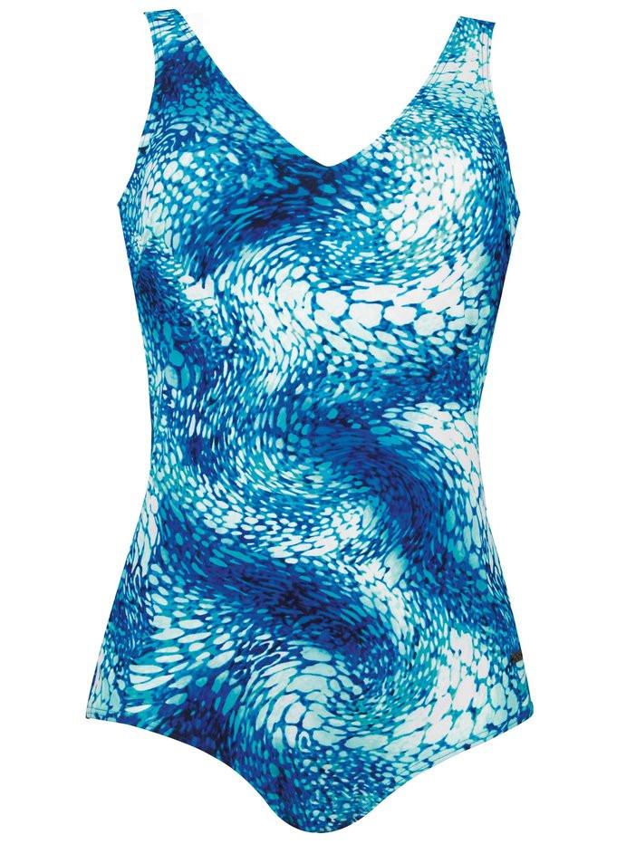 Dámské jednodílné plavky 73022 - Naturana Barva: modrá, Velikost: 46E