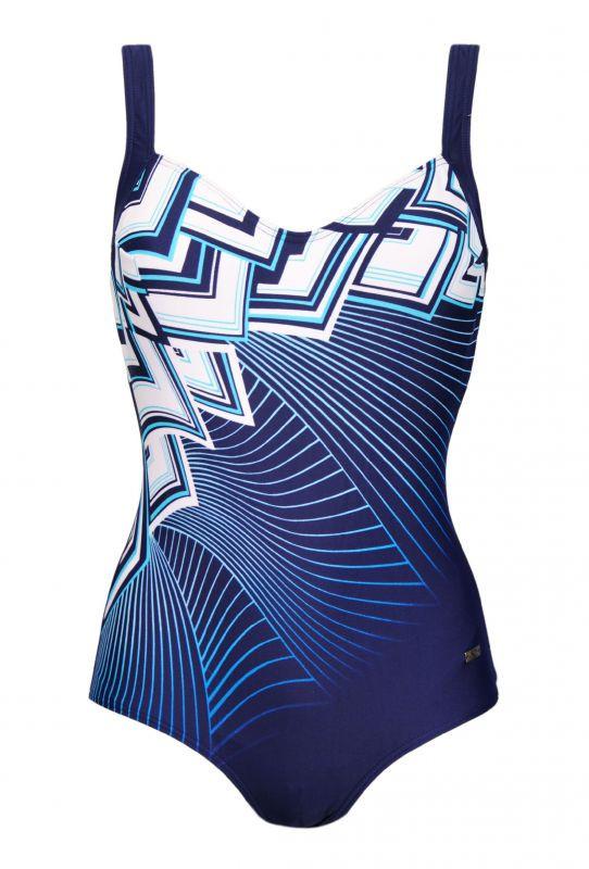 Dámské jednodílné plavky 73013 - Naturana Barva: modrá, Velikost: 48E
