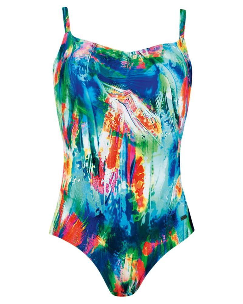 Dámské jednodílné plavky 73020 - Naturana Barva: barevný tisk, Velikost: 40D