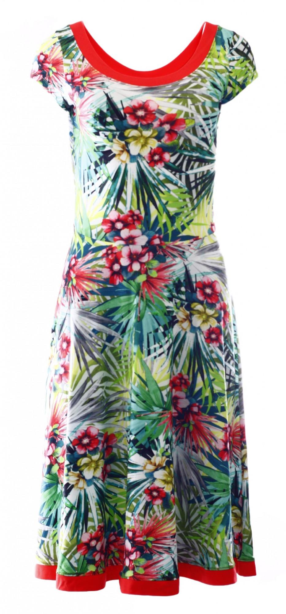 Dámské šaty 6269 - Vamp Barva: květinový vzor, Velikost: L