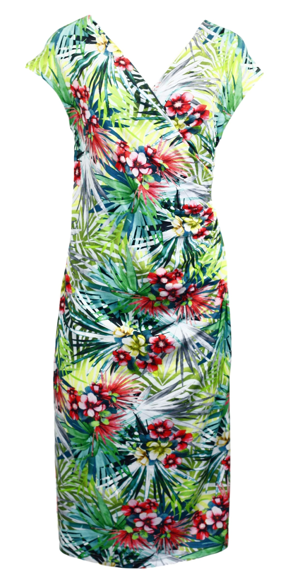 Dámské šaty 6267 - Vamp Barva: květinový vzor, Velikost: XS