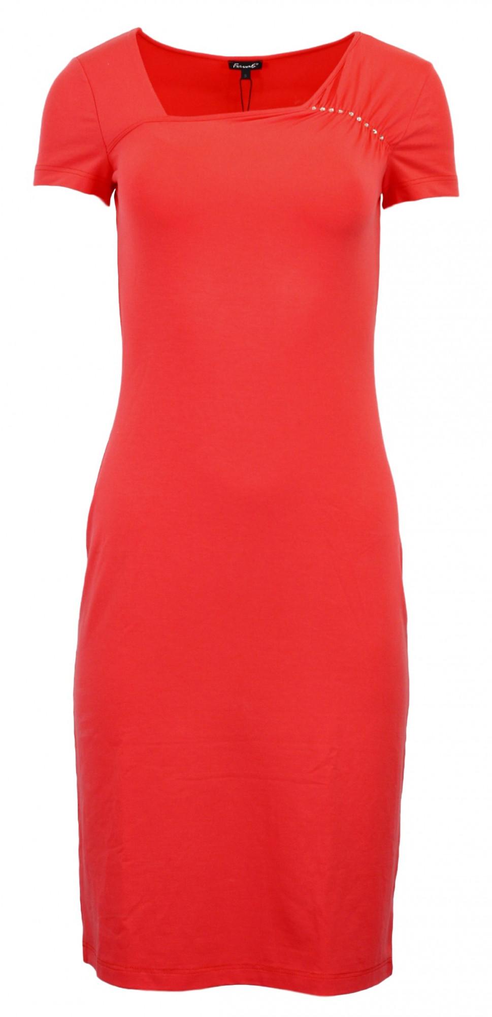 Dámské šaty Geta - Favab Barva: korálová, Velikost: S