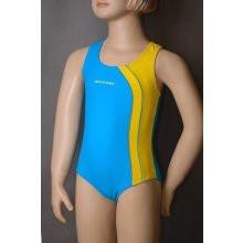 Dívčí sportovní plavky Sesto Senso NR BW 890 Barva: tmavě modrá s tyrkys, Velikost: 134