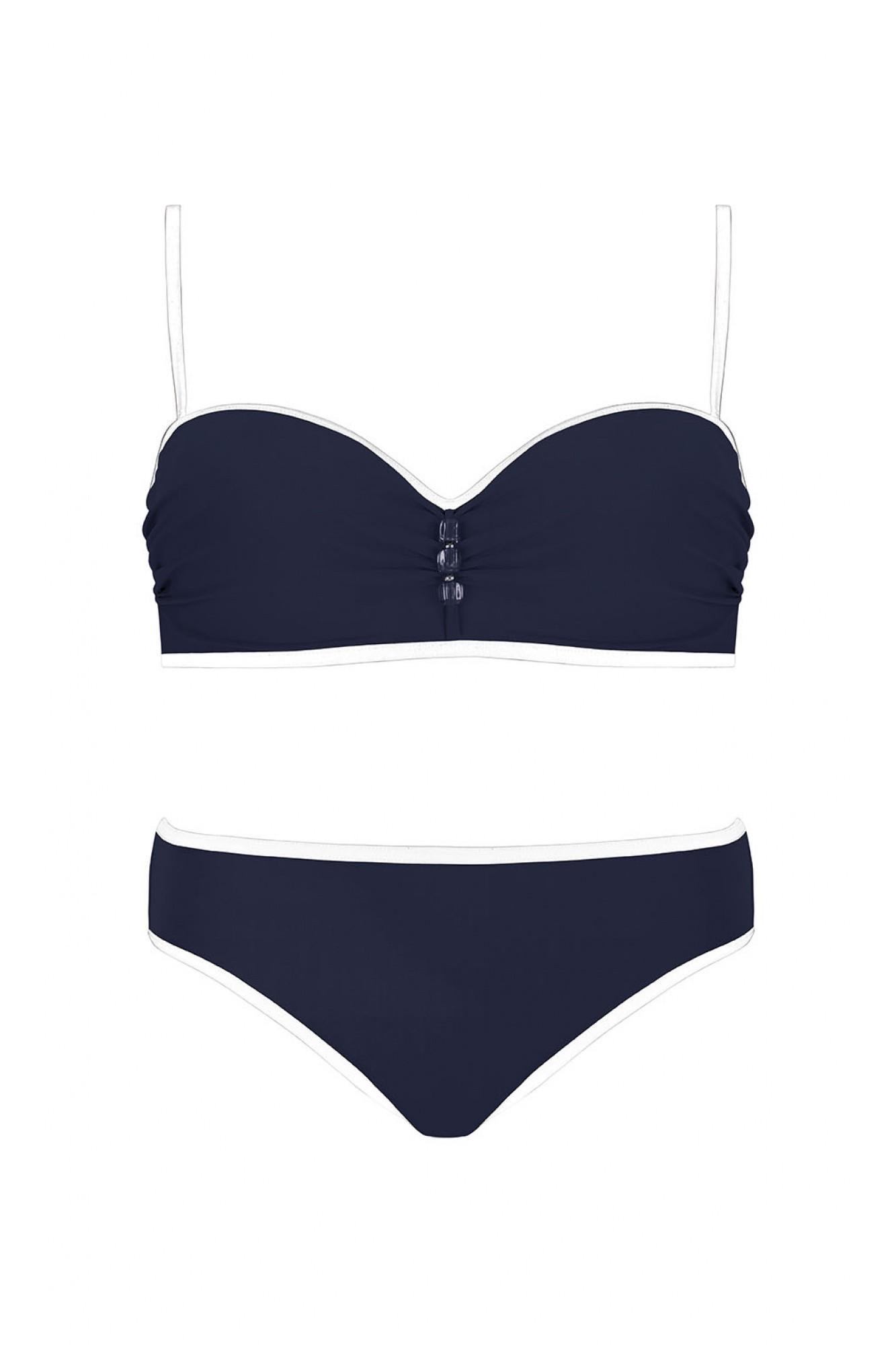 Dámské dvoudílné plavky Self 7300X3 Barva: granátová, Velikost: 44D