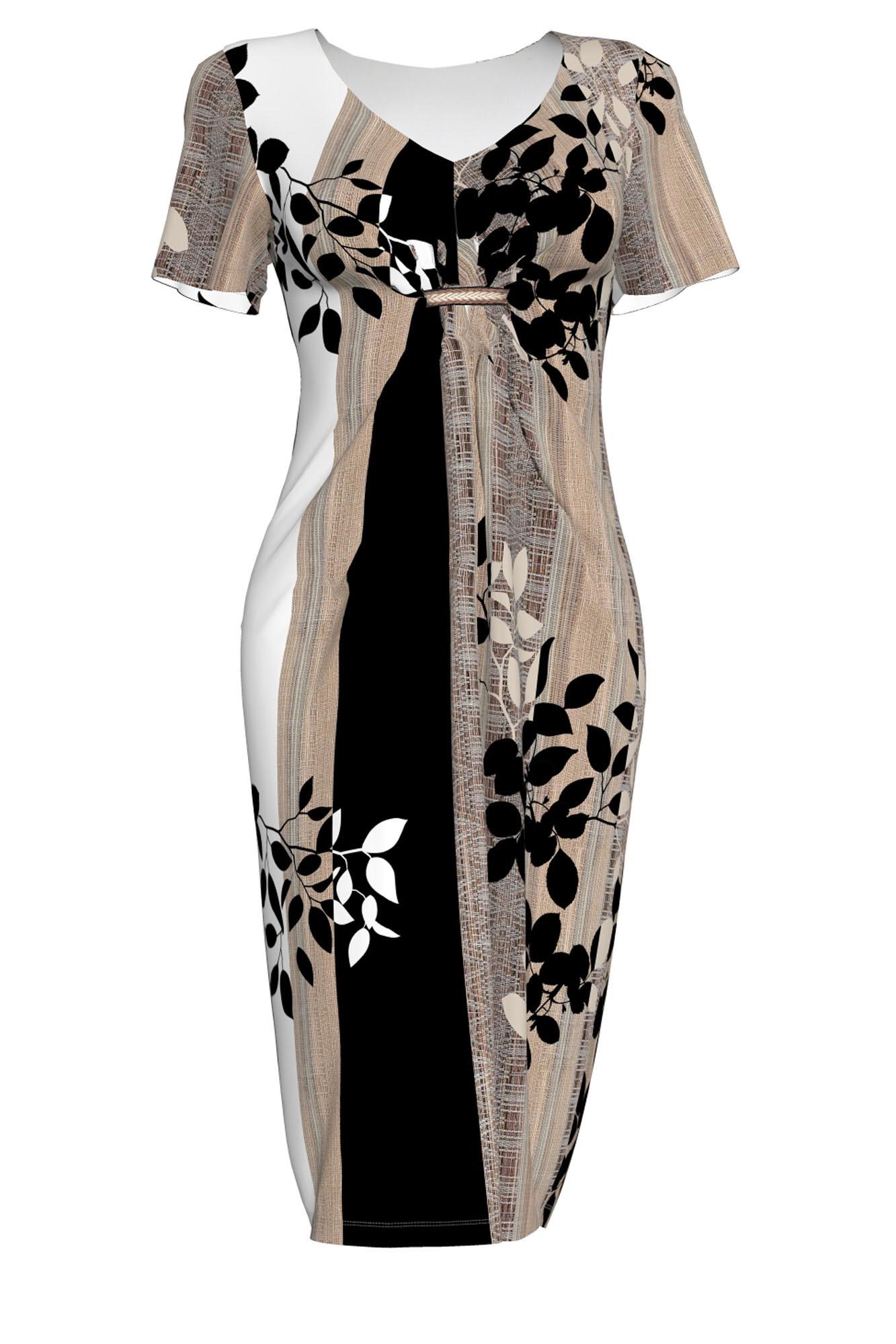 Dámské šaty 6196 - Vamp Barva: hnědá, Velikost: M