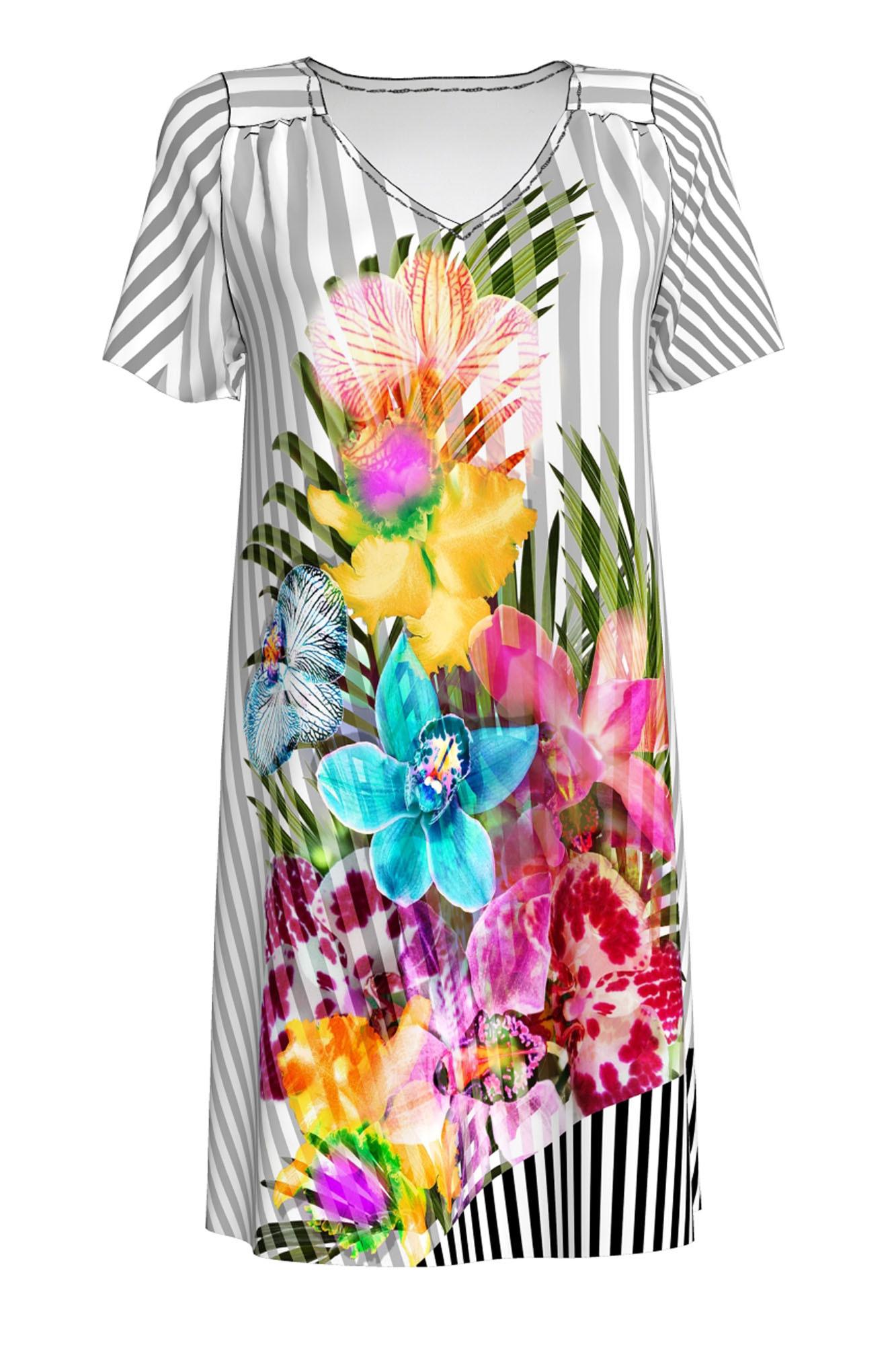 Dámské plážové šaty 6277 - Vamp Barva: šedá, Velikost: S