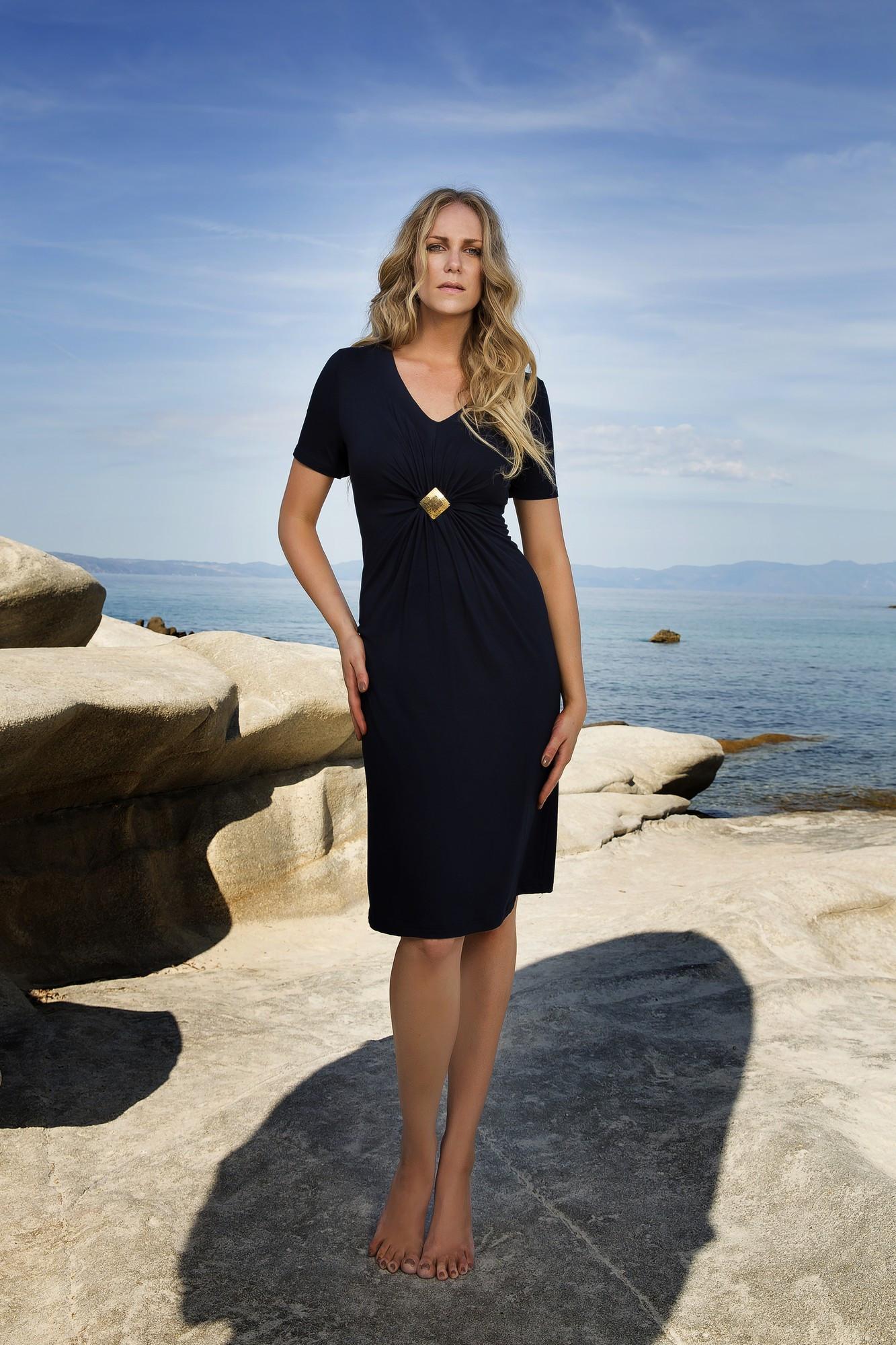 Dámské plážové šaty 6285 - Vamp Barva: červená, Velikost: XL