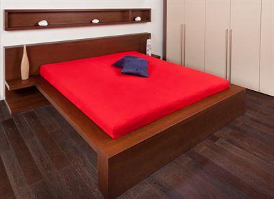 Frote prostěradlo 120x200, Barva: červená
