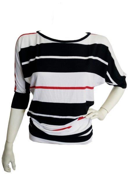 Halenka Rina 0076 - Sailor Tom Barva: bílá,červená, modrá, Velikost: XL