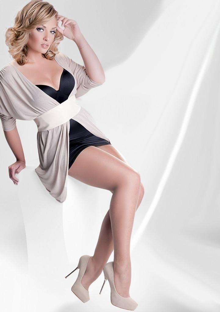 Punčochové kalhoty Gabriella Rubensa Plus Size code 161 Barva: gazela/tělová, Velikost: 6-XXL